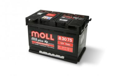 MOLL M3 plus K2 double lid 75 Ah
